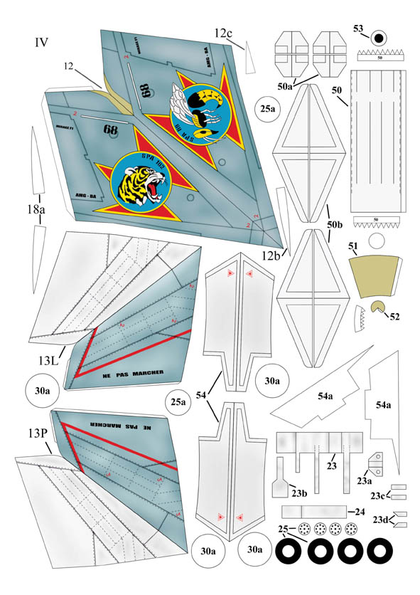 Как сделать самолёт мираж из бумаги